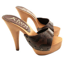 Sexy Snake Clogs Zoccoli in pelle - K93001 PITONE brown