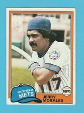 BASEBALL - TOPPS  GUM  -  JERRY  MORALES  -  OUTFIELD  -  METS  -  1981
