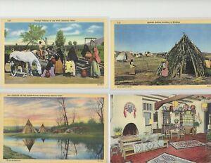 15 Vintage Native American Postcards
