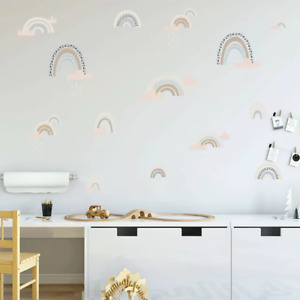 Rainbow Clouds Wall Decals Stickers Nursery Kids Bedroom