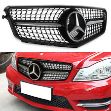 CHROME BLACK C450 STYLE RADIATOR GRILL GRILLE FOR MERCEDES BENZ C CLASS W204 08+