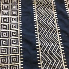 GP And J Baker Designer Embroidered Aztec Stripe By The Metre