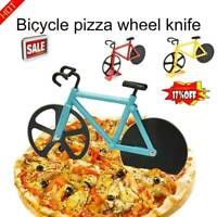 Bicycle Pizza Cutter Dual Slicer Stainless Steel Bike Chopper Kitchen Tool
