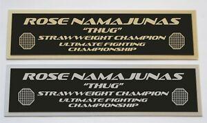 Rose Namajunas UFC nameplate for signed mma gloves photo or case