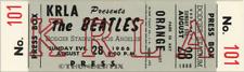 1  BEATLES VINTAGE UNUSED FULL CONCERT TICKET 1966 Dodger Stadium laminated gray