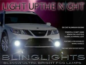 Xenon Fog Lamps Lights Lamp Light Kit for 2008 Saab 9-3 93 Turbo X TurboX XWD