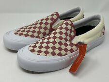 Vans Slip On Pro Checkerboard Mineral Red Men's Size 9 No Box Lid