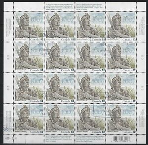 CANADA - #2226 - CHIEF MEMBERTOU USED FULL SHEET WITH FIRST DAY OF ISSUE CANCELS
