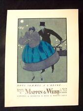 Nous sommes à l'heure... Mappin & Webb  pub  Art-déco  Gazette Bon Ton
