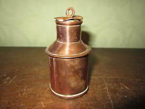 A small copper churn - bottle