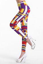 Bunte Geometrie Muster Leggings Leggins Treggings Hose Leggin bunt 34 36 S