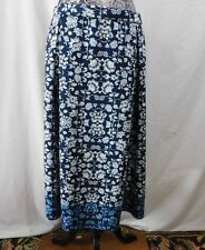 Nwt $78 Max Edition Blue Floral Print Full Calf Length Skirt......XL