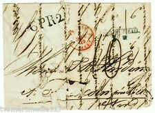 France 1839 Straightline Stampless Folded Letter Givet to Turcoing Partial Note