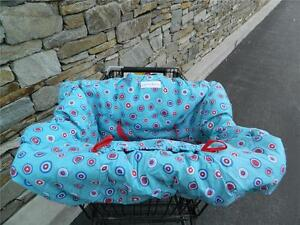 White, Blue,and Red Dot Pattern 2-in-1 Shopping Cart Cover w/ FREE SHIPPING