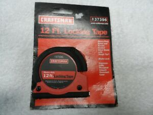 Craftsman NOS Heavy Duty Locking Tape Measure, 12 ft - Part # 37396