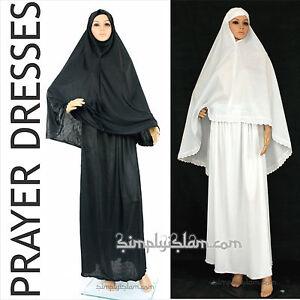 Womens Islamic Prayer Dress Ahram Hajj and Hijab Khimar scarf Niqab Nikaab