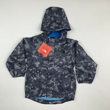 TODDLER BOYS: The North Face Quinn Rain Shell Jacket, Gray & Blue - Size 4T
