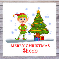 PERSONALISED CHRISTMAS CARDS ELF | SON DAUGHTER GRANDSON GRANDDAUGHTER BROTHER S