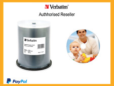 Verbatim Blank CD-R 700MB 100 Disc Spindle Wide Inkjet Printable CDR Media 95252