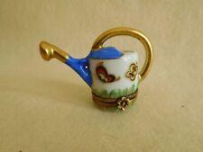 Vintage Limoges Trinket Box Watering Can Frog