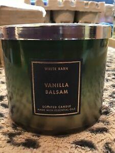 BATH & BODY WORKS VANILLA BALSAM 3 WICK CANDLE 14.5 OZ NEW