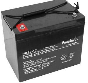 PowerStar ML75-12 12V 75Ah Battery for Teftec Wheelchair Part Number UB12750-ER