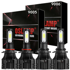 2Pair CREE LED Headlights Bulb Total 2000W 9005 9006 High + Low Beam white 6000K