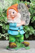 Zwerg Willkommen 26 cm Garten Gartenzwerg Figuren Dekoration 91141 - 1 Welcome