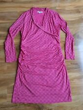 BODEN LADIES GORGEOUS Ruched Wrap Pink Dress UK size 18R. RRP £89.50 Brand new.