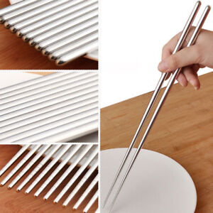 UK STAINLESS STEEL METAL TWIST TRADITIONAL CHINESECHOPSTICKS Japanese UK Stock