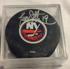 BRYAN TROTTIER autographed signed NEW YORK ISLANDERS Hockey PUCK