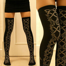 Women Girl Cute Corset Shoe Lolita Legging Stocking Thighhigh Sock Dance Cosplay
