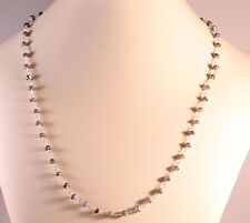 """Faceted Mystic Finish Labradorite Beaded Necklace Sterling Silver Necklace 19"""""""