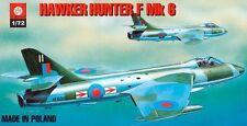 HAWKER HUNTER F MK 6 LATE (RAF AND CHILEAN AF MARKINGS) 1/72 PLASTYK