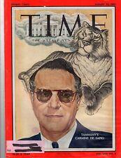 Time Magazine 1955,  August 22,  Tammany's Carmine De Sapio