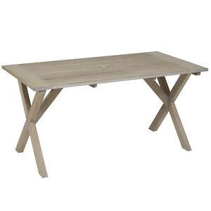 GL 2020 Gartentisch Holztisch Holz Tisch rechteckig 160 x 85 cm neu grau geölt