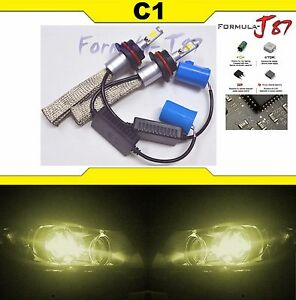 LED Kit C1 60W 9004 HB1 3000K Yellow Head Light HIGH LOW DUAL BEAM  UPGRADE