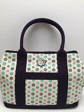 Tommy Hilfiger Handbag*Shopper Navy Blue Multi Large Shoulder Purse Tote New $88