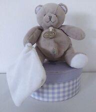 Doudou et compagnie***Doudou ours peluche carré mouchoir beige blanc marron