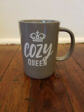 14oz Porcelain Cozy Queen Mug Gray - Threshold