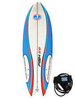 California Board Company Sushi Fish Soft surfboard 5ft 8 - Red/White/Blue