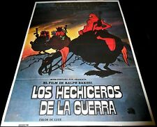 1977 Wizards ORIGINAL SPAIN POSTER Ralph Bakshi CULT Post Apocalyptic Animation
