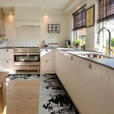 Läufer Küchen Premium Teppich rutschfest abwaschbar Schwarzwald Grau 50cm