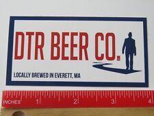 Beer STICKER: DOWN THE ROAD Brewing Co ~ Everett, MASSACHUSETTS; Hat Man Walking