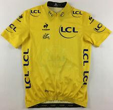 Tour de France Nibali maillot jaune TdF 2014 LCL yellow cycling jersey Large L