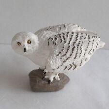 Large Snowy Owl - Halloween Dollhouse Miniature Animal - Harry Potter Pet Owl