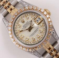 Rolex Lady Datejust 2 Tone White MOP String Diamond Dial-Diamond Bezel & Lugs