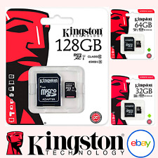 KINGSTON MICRO SD CARD 16GB 32GB 64GB 128GB CANVAS SELECT ADAPTER CLASS 10 100MB