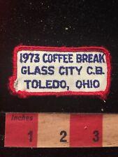 Vtg AS-IS 1973 Coffee Break GLASS CITY CB Toledo Ohio Amateur Radio Patch 81D2