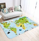 3D Green Map 4 Non Slip Rug Mat Room Mat Quality Elegant Photo Carpet AU Summer